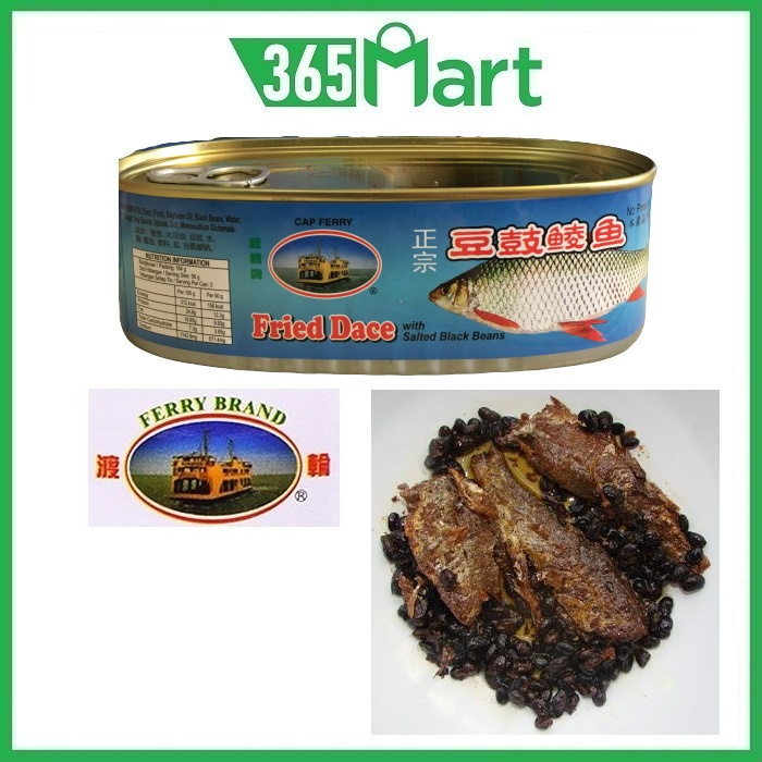 FERRY BRAND Fried Dace Fish with Salted Black Beans 豆豉鲮鱼 184g by 365mart 365 Mart