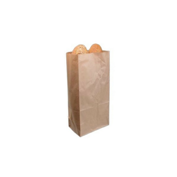 Disposable Paper Bag, Brown, Food Grade, Non Greaseproof