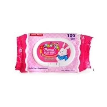 Pureen Baby Wipes (2 x 100\'s)