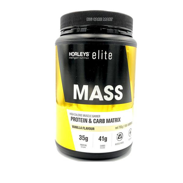 Horleys Mass Muscle Gainer Protein & Carb Mix 750g (Vanilla)