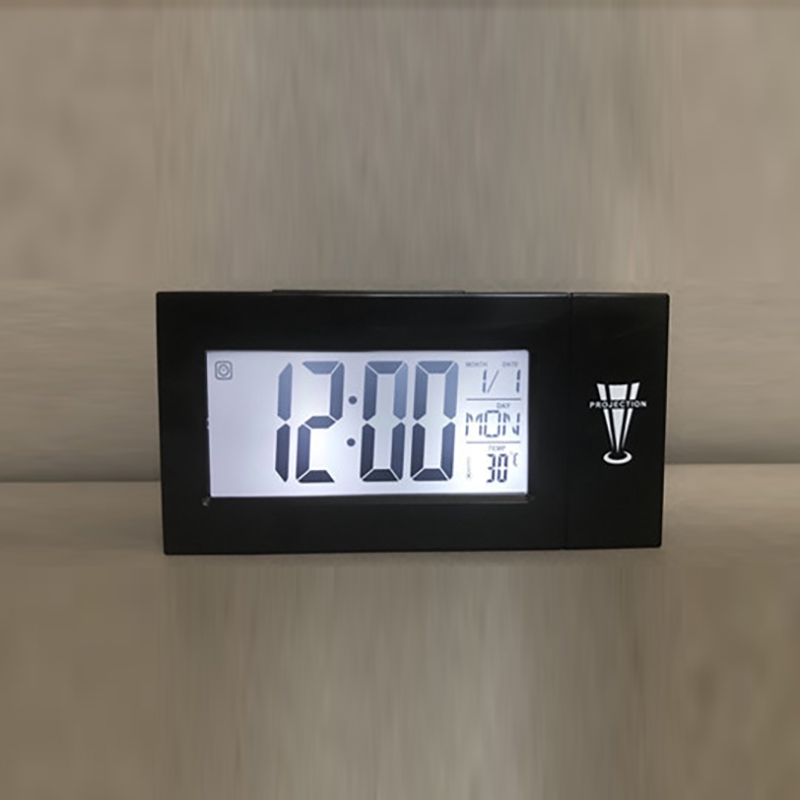 LED Digital Projection Alarm Clock Talking Nixie Electronic