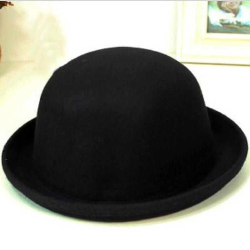 0e0eab11833 Women Bowler Hat Wide Brim Bucket Cap Princess Fedoras Trilby Jazz Lady Hats