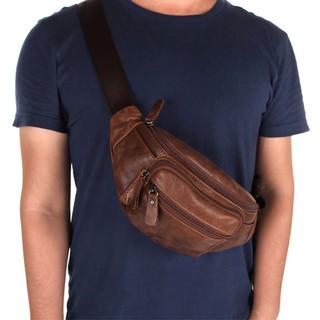 2018 Men Waist Packs Genuine Leather Travel Bag Male Pack Belt