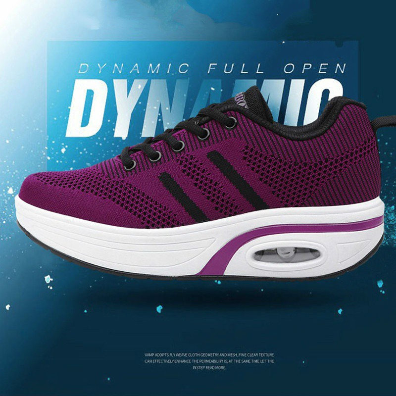 9aad57d826 ProductImage. ProductImage. Women Comfortable Platform Walking Sneakers  Breathable Casual Air Fitness Shoes