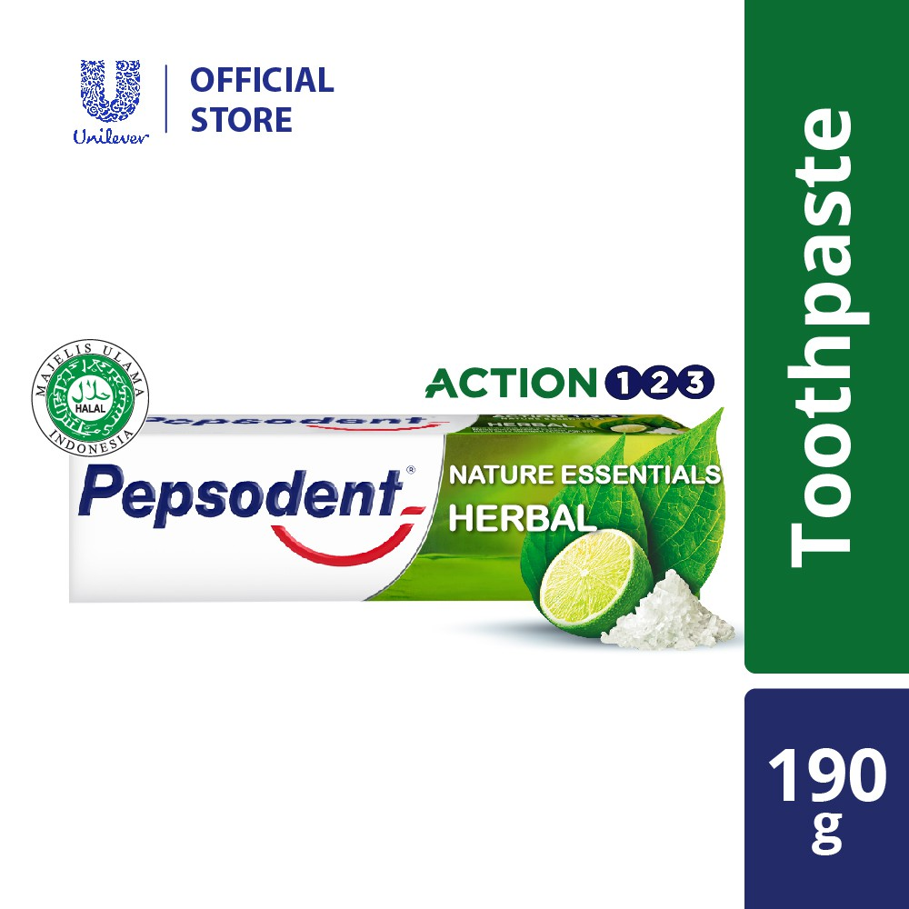 Pepsodent Action 123 Herbal Toothpaste 190g