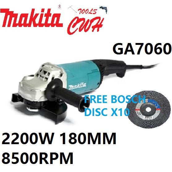 "MAKITA GA7060 2200W 180MM (7"") LARGE ANGLE GRINDER CUTTER GRINDING CUTTTING GA 7060"