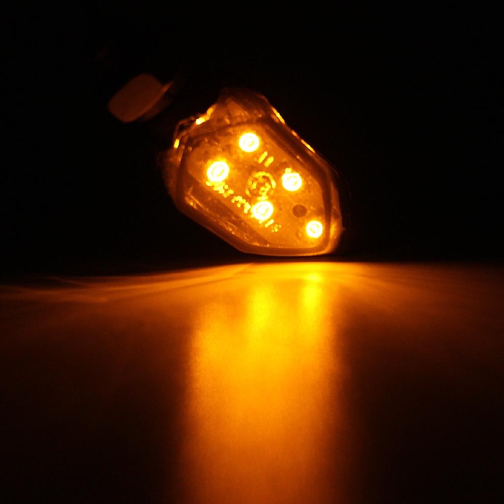 Universal SMD LED Turn Signals Light Blinker Amber Indicator For Aprilia Buell