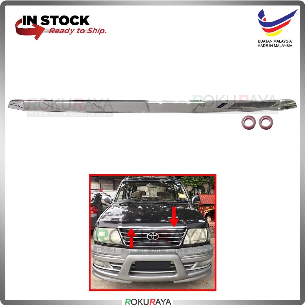 Toyota Unser (2002 Facelift Model ONLY) Front Bonnet Hood Top Center Grill Moulding Garnish (Chrome)