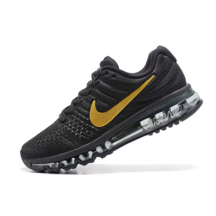 Nike Air Max 2017 Men's Running Shoes Original New Arrival Official Men Outdoor Sports Sneakers Shoes BLACK GOLD