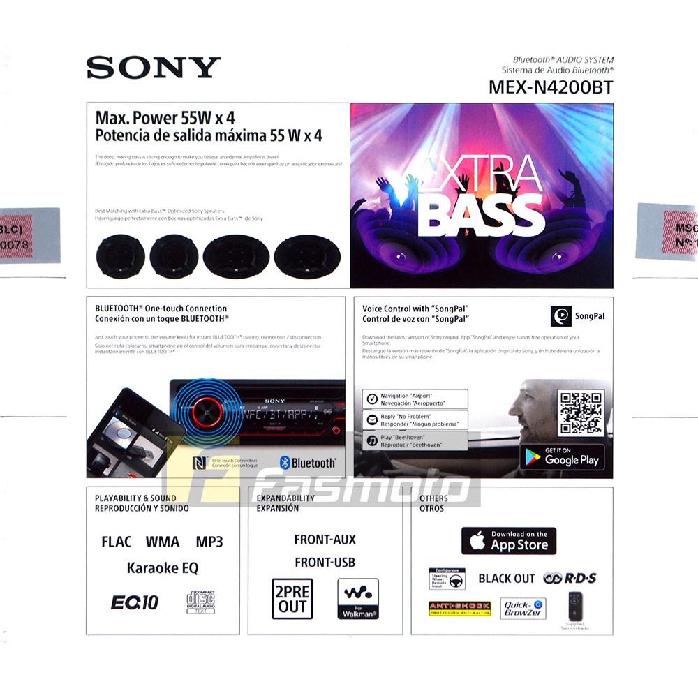 Sony MEX-N4200BT Single DIN Dual Bluetooth USB CD Car Radio   Shopee