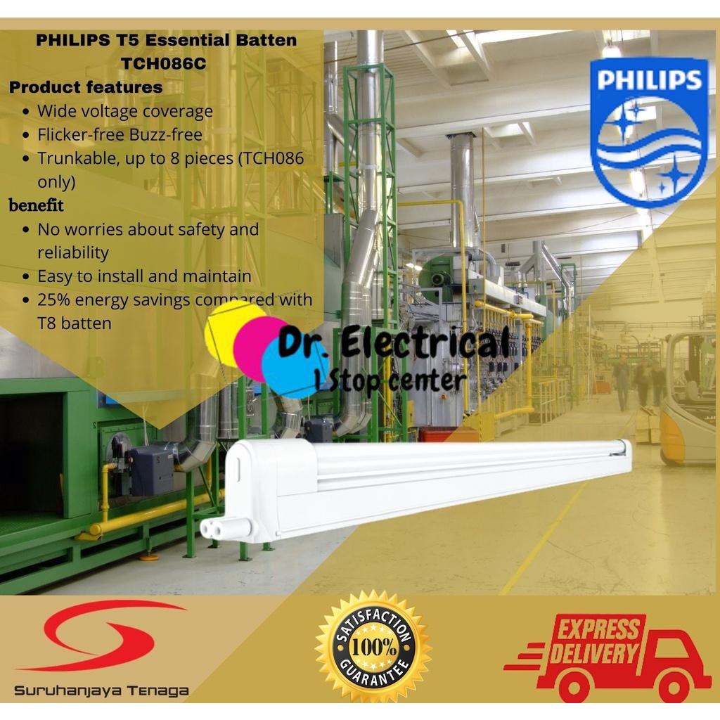 PHILIIPS 086 T5 Batten  14/21/28 28W 840/865 Set Tube 4Feet/4FT WarmWhite/daylight TCH086 . LED Trunkable linear