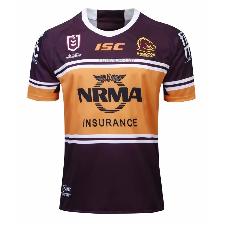 1f105c9a97c Brisbane Broncos NRL 2018 Home S/S Rugby Shirt Size:S-3XL | Shopee Malaysia