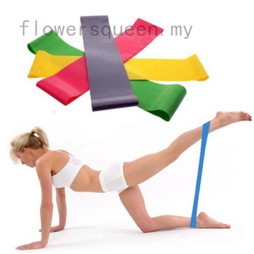 Resistance Band Loop Yoga Pilates Home GYM Fitness Exercise