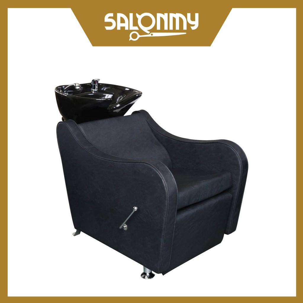 Barber Black Classic Backwash Shampoo Chair (32987)