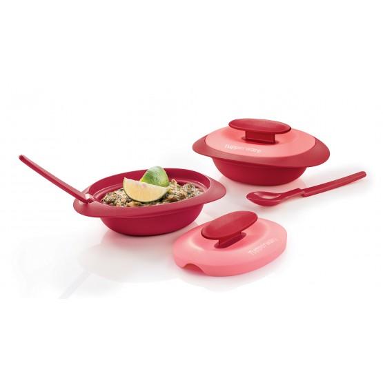 [TUPPERWARE] ROYAL RED SERVING SET-Sambal Dish 1 set