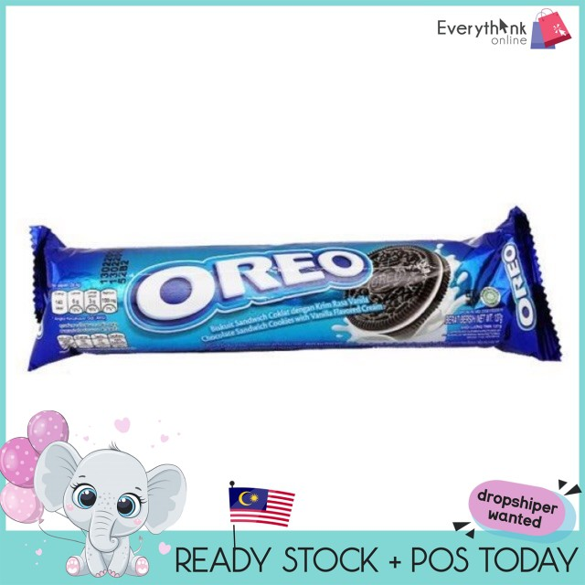 READY STOCK OREO ORIGINAL WHITE CHOCOLATE BISCUIT 133G