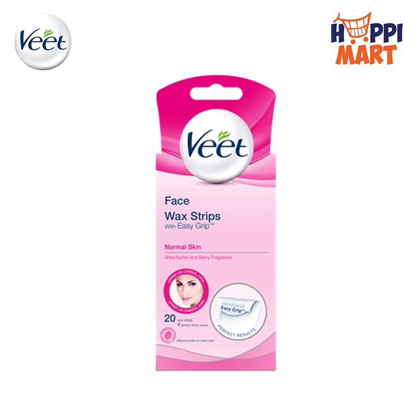 Veet Hair Removal Facial Wax Strip 20 S Shopee Malaysia
