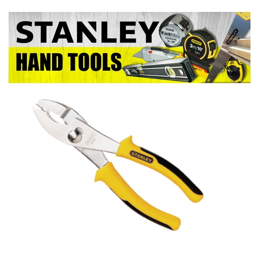 STANLEY SLIP JOINT PLIERS 6' 8' CARBON STEEL CHROME PLATED