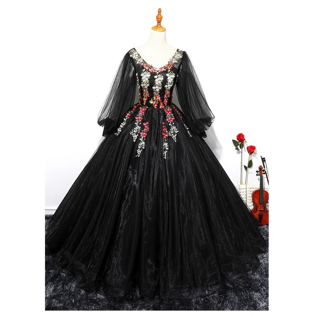 Beaunique Black Organza Baju Pengantin Long Sleeve Muslimah Wedding Dress