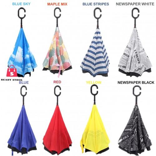 cbfa4abc77b1 Hot Sales C-Type Handle Reverse Upside Down Umbrella*