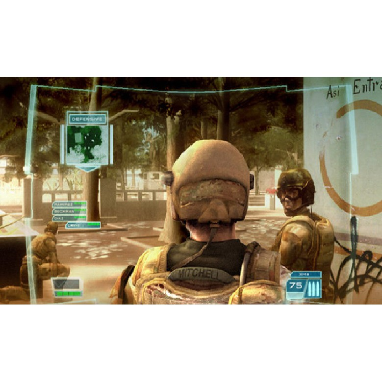 PS2 Game Tom Clancy's Ghost Recon Advanced Warfighter, Jungle Storm, Shooter Game, English version / PlayStation 2