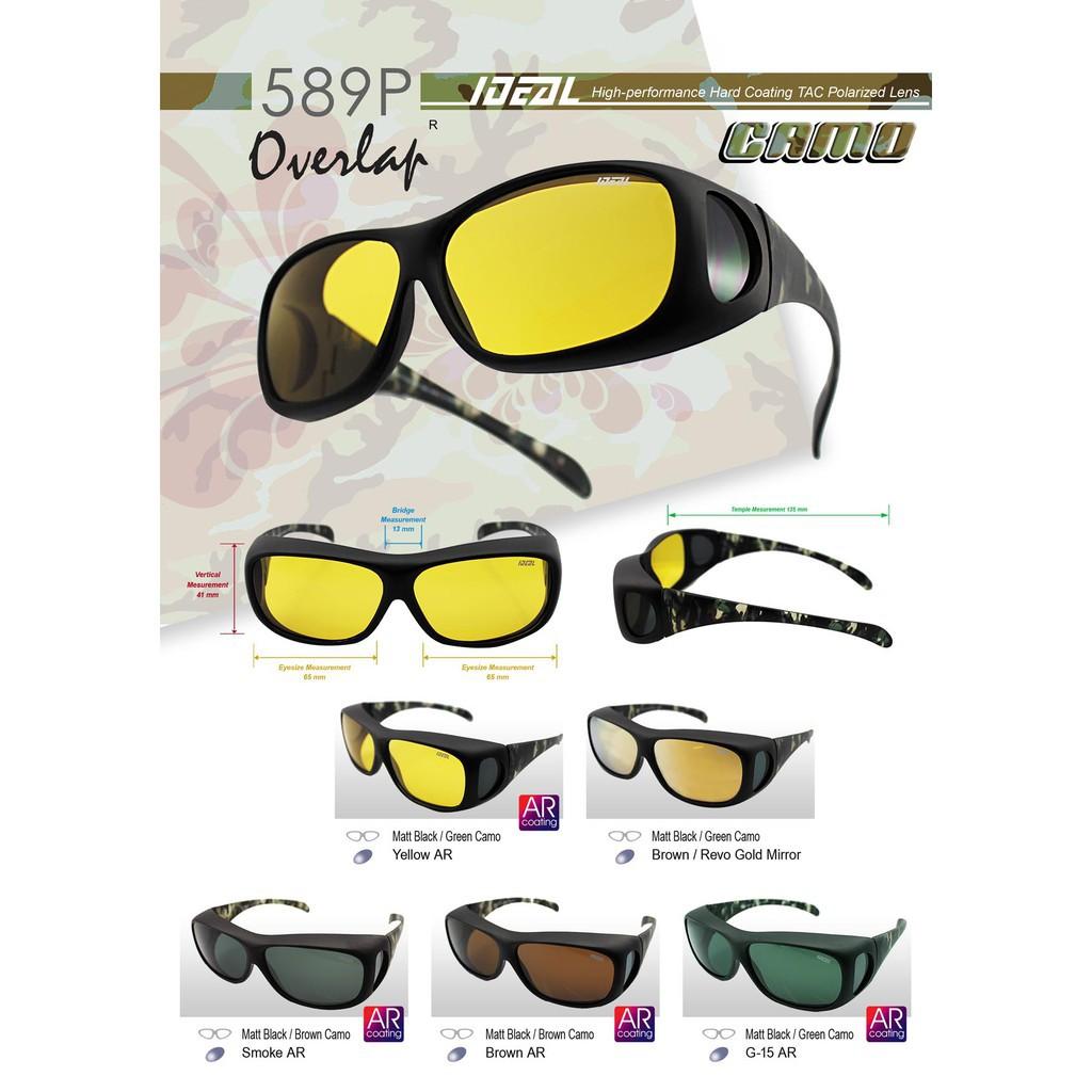 a6ea7dbf083 READY STOCK 4GL IDEAL 589P Fit Over Overlap Polarized Sunglasses Cermin  Mata