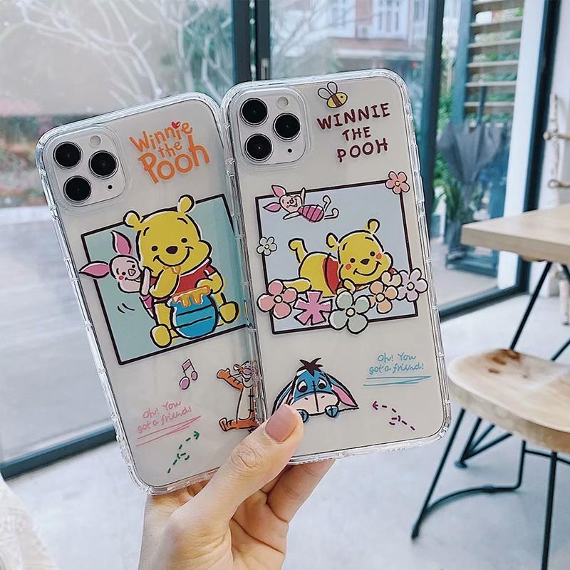 【ลดลง 15% จาก 200: TH6ESZAX】Winnie the Pooh เคส iphone 7 plus for iPhone11 / 11Pro 11pro Max X XR XS XS MAX 6 7 8 plus เคสไอโฟน เคสซิลิโคน i