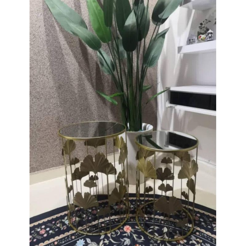 1 Mirror Round Console Table, Round Table Promosi