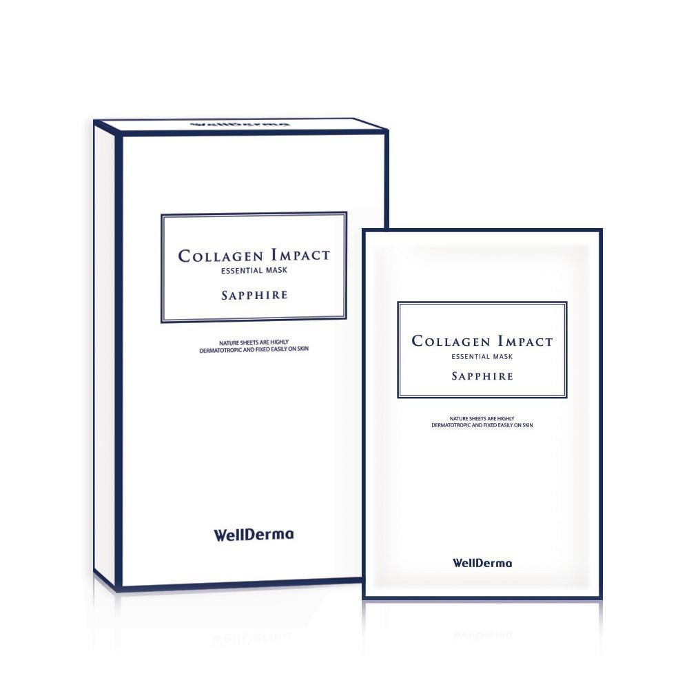 Wellderma Collagen Impact Essential Mask Sapphire Shopee Malaysia Mediheal