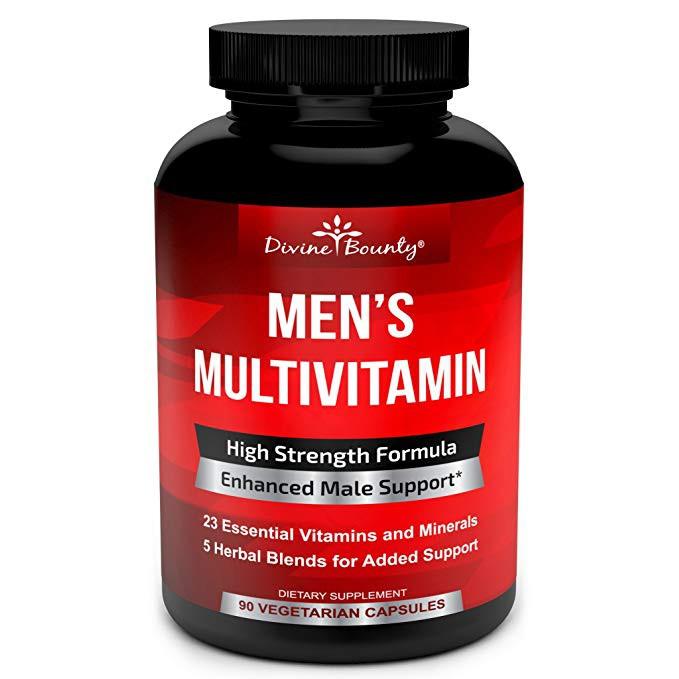 Mens Multivitamin Daily Multivitamin Vitamin A C D E K B Magnesium 90  Capsules
