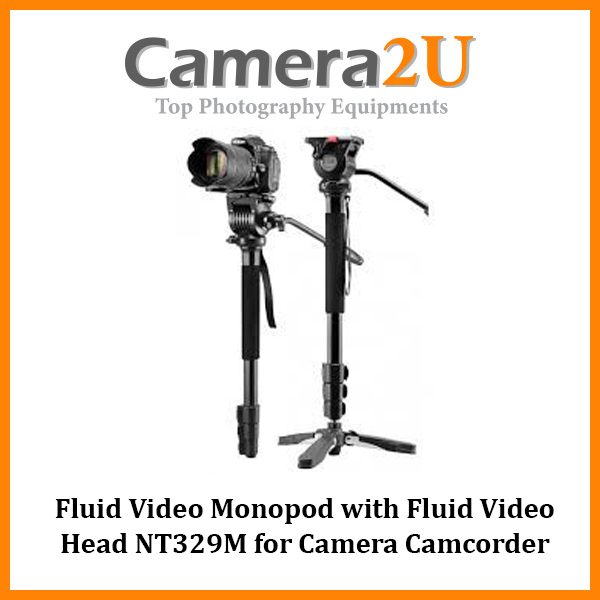 Fluid Video Monopod with Fluid Video Head NT329M for Camera Camcorder