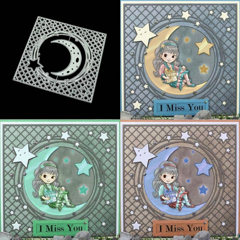 Sky stars Metal DIY Cutting Dies Stencil Scrapbook Album Paper Card Emboss