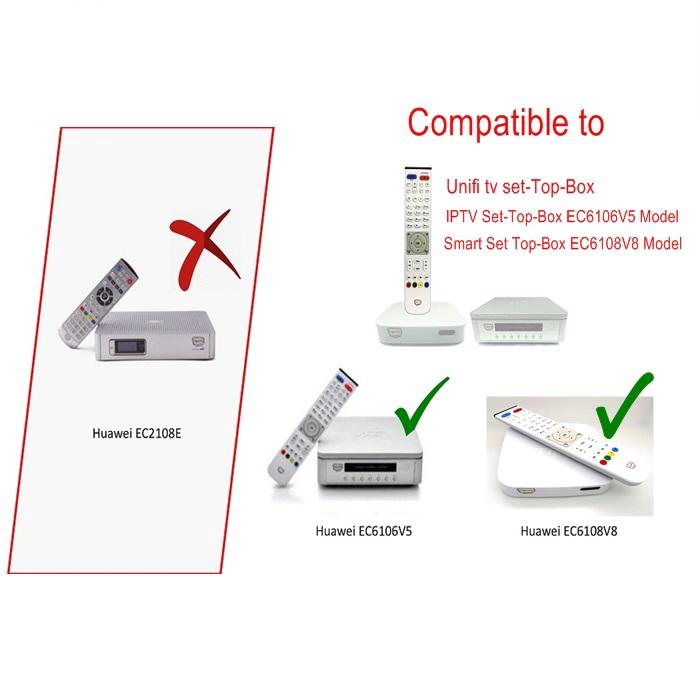 N/ANAY-S: ALAT KAWALAN JAUH HYPP TV /Remote Control For HyppTV - Unifi TV EC6106V5 EC6108V8