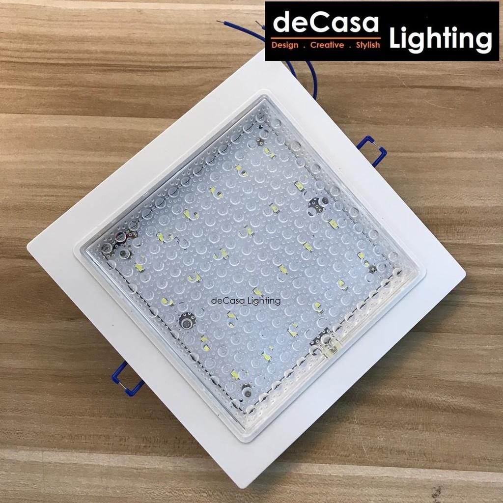 DECASA LIGHTING 8w Downlight Led Ceiling Light Square Shape Daylight (6500K) Lampu Ceiling (2055-8W-DL)