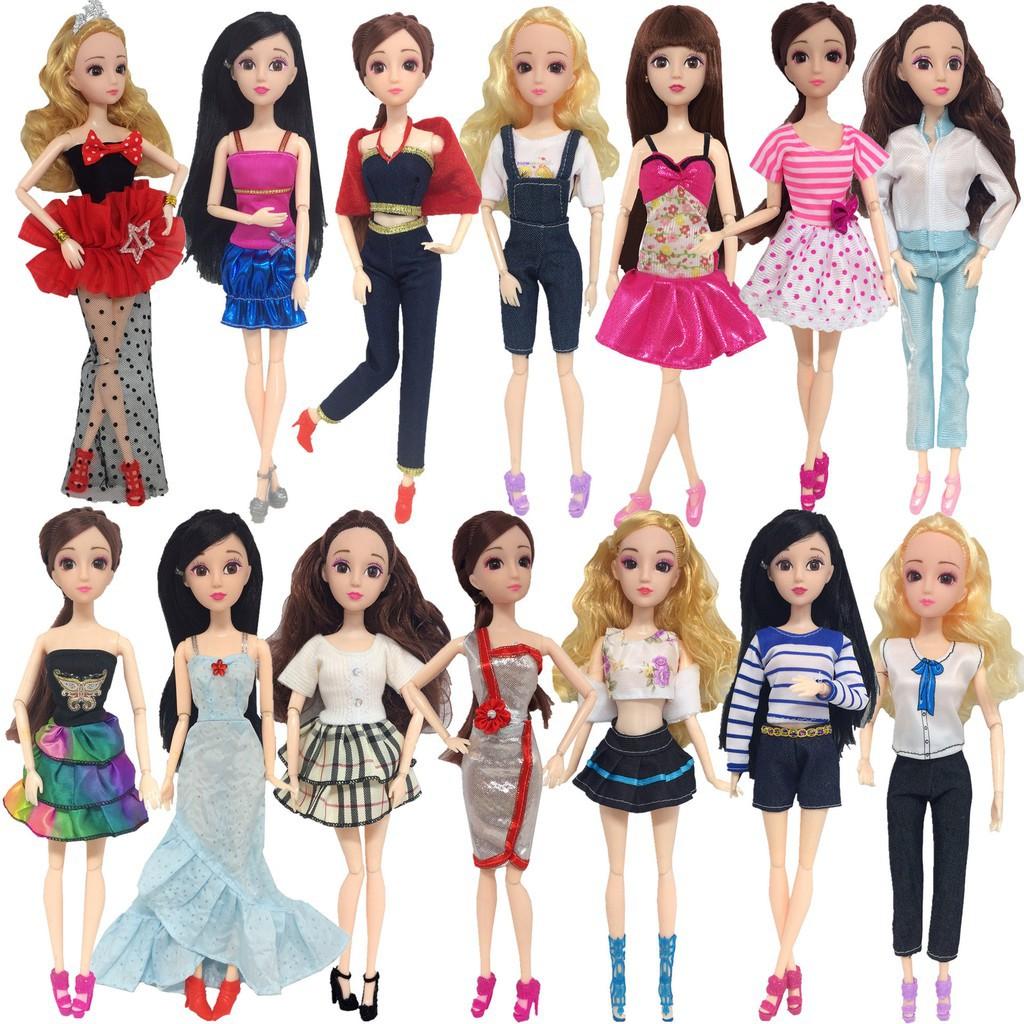 c25cf00530 14Pcs Fashion Handmade Barbie Doll Party Dress Clothes Mixed Styles Randomly