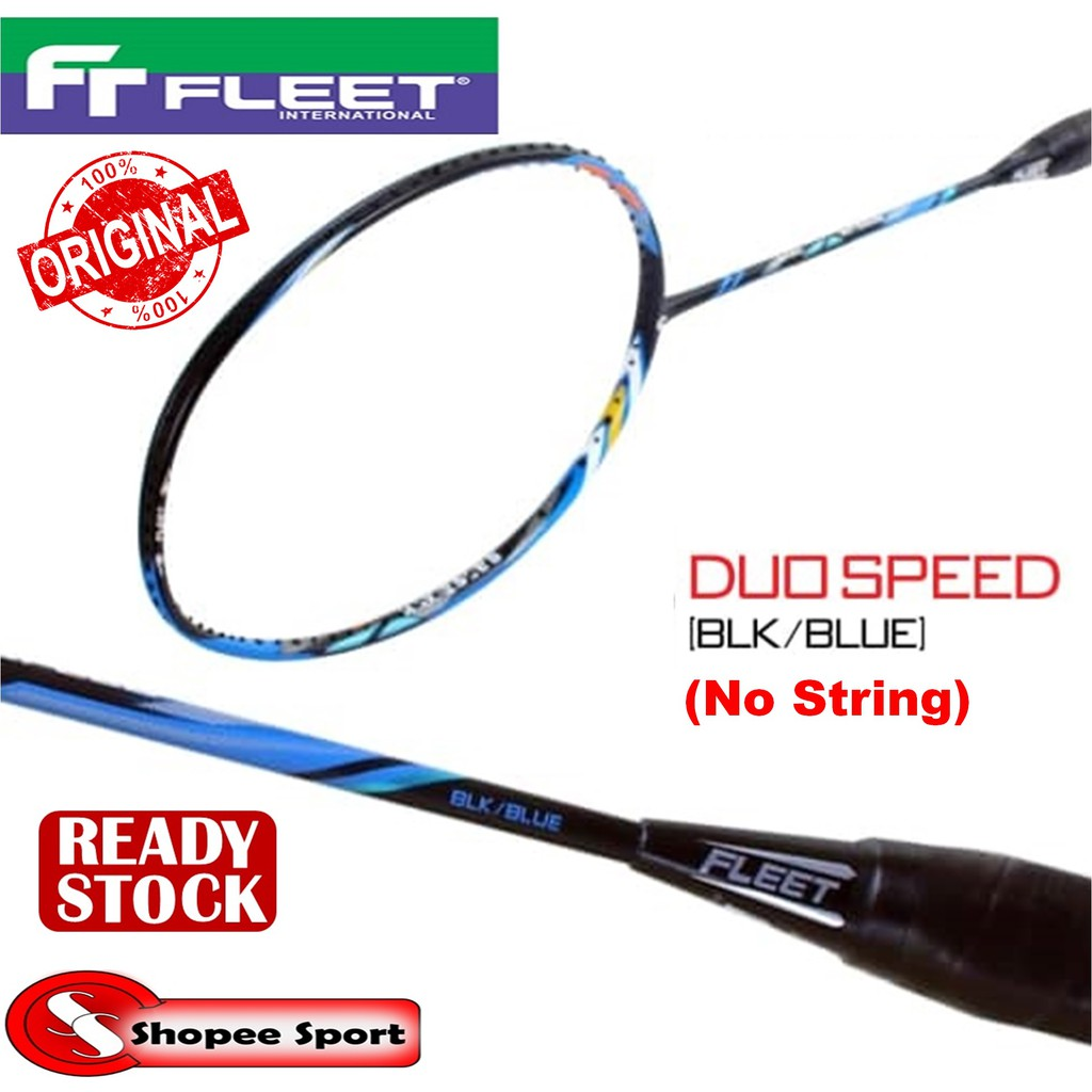 Fleet Duo Speed (Black Blue) (No Stringing) Badminton ...