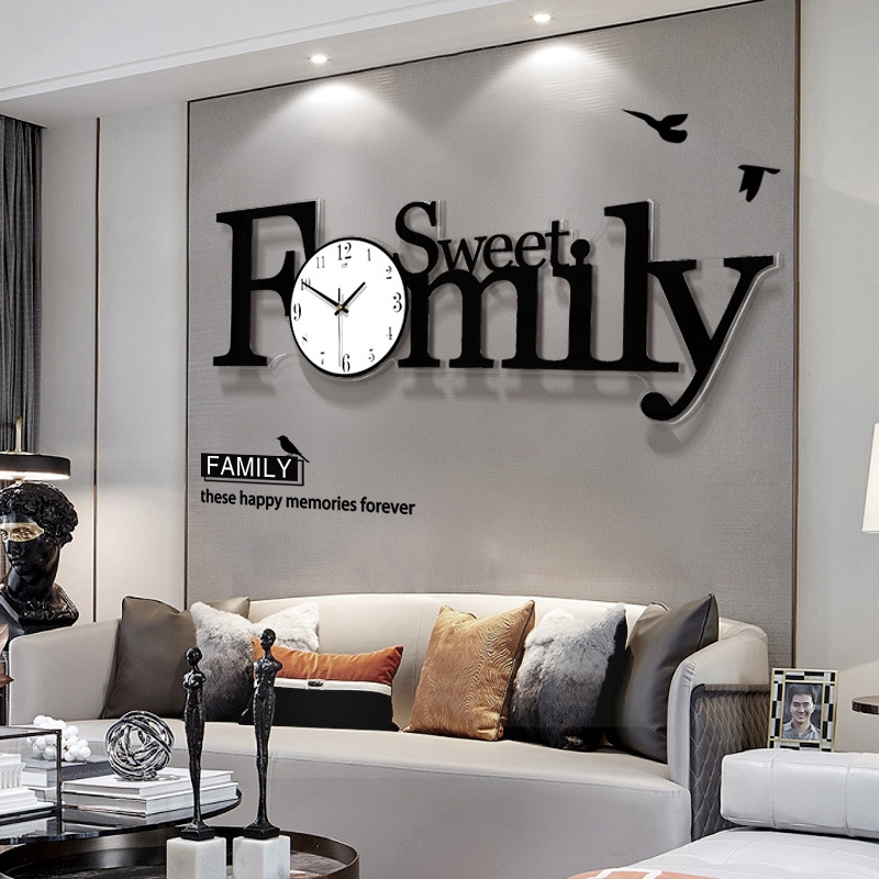 Acrylic Clock Wall Clock Living Room Modern Simple Home Decoration Clock Shopee Malaysia