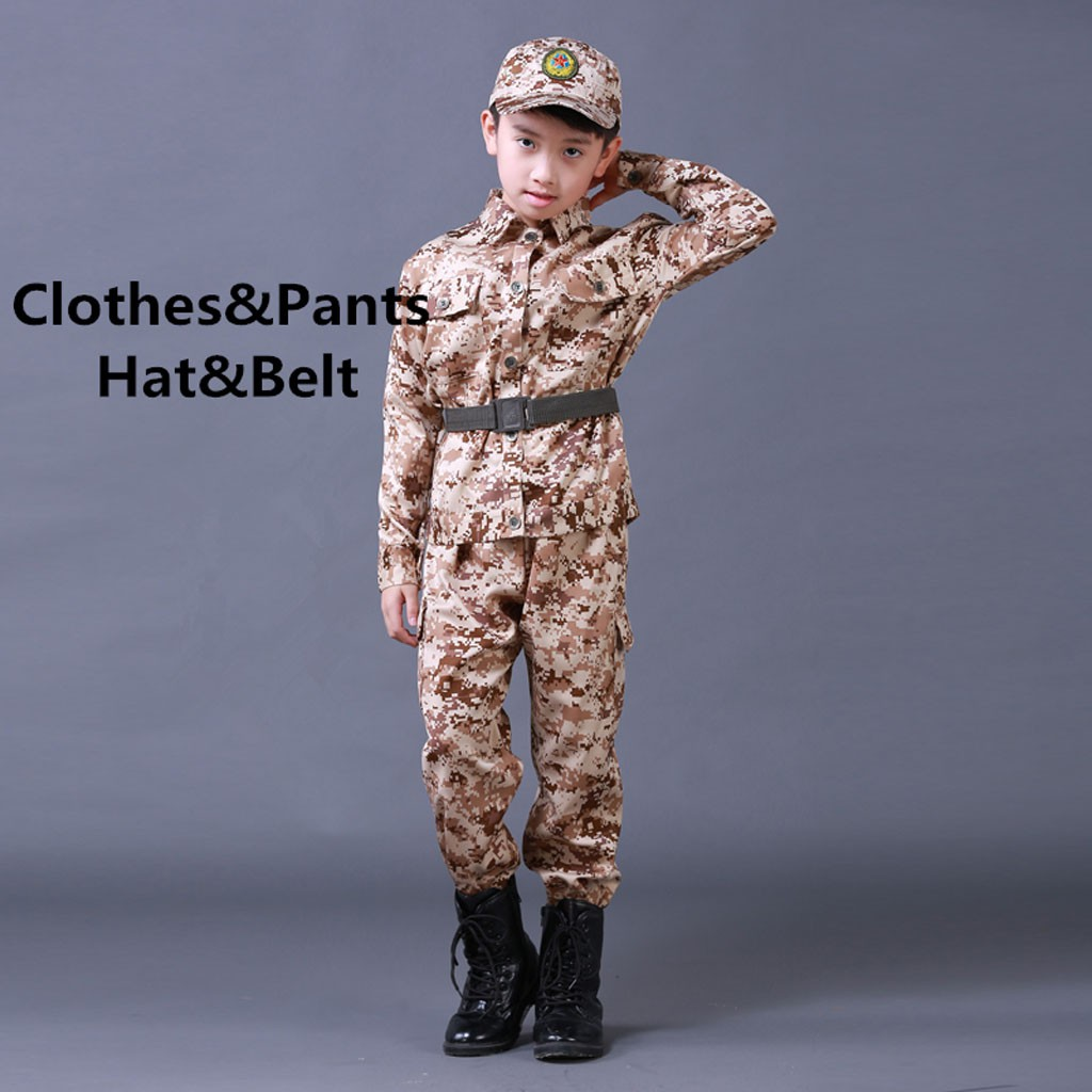 CHILD BOYS SOLDIER OUTFIT FANCY DRESS #MILITARY CAMOUFLAGE 2 SIZES