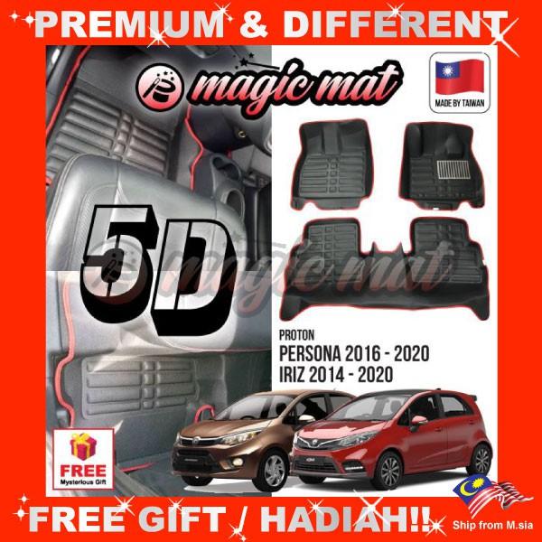 [FREE GIFT Gift] PROTON PERSONA 2016 - 2020 / IRIZ 2014 - 2020 (5 Seater) MAGIC MAT 5D Leather Floor Mat Easy Clean Carpet