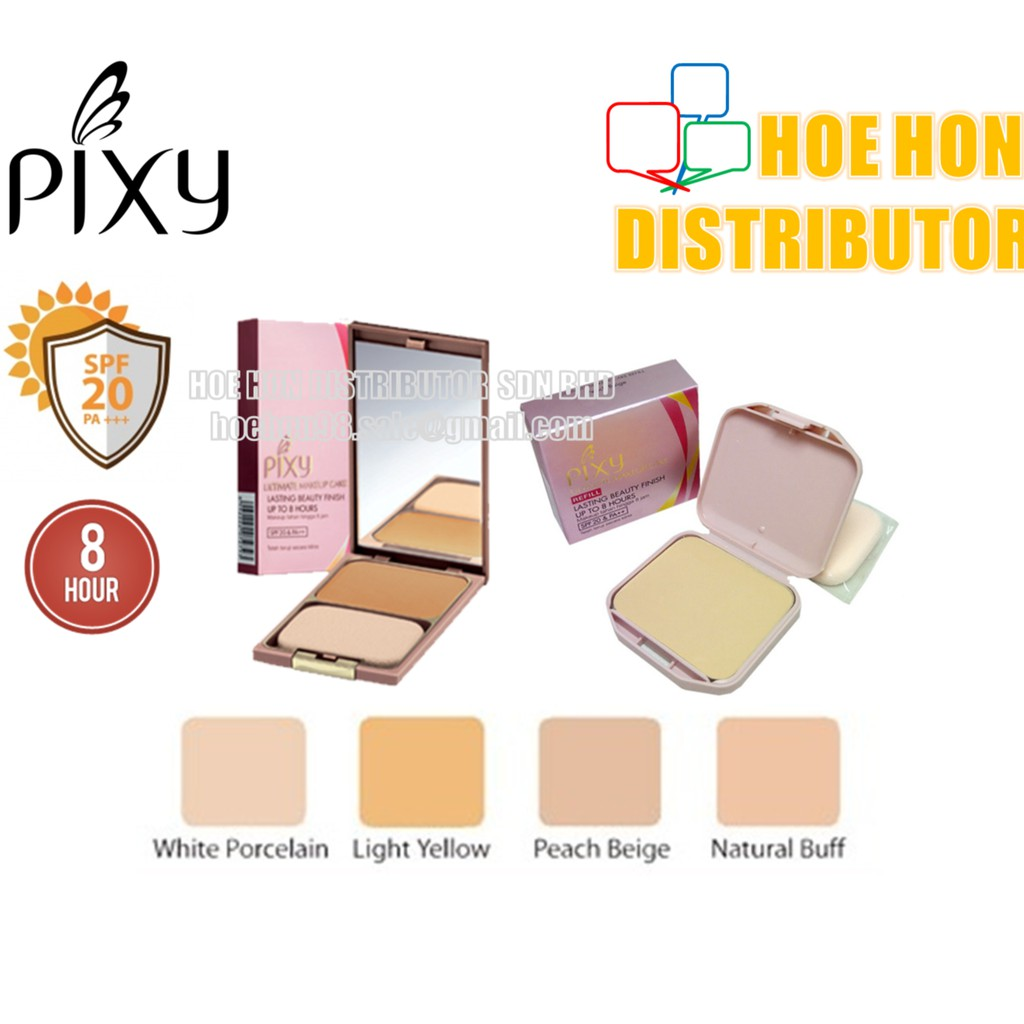 Pixy Ultimate Makeup Cake Refill White Porcelain Peach Beige Maybelline Two Bedak 2 Pcs Natural Buff Shopee Malaysia