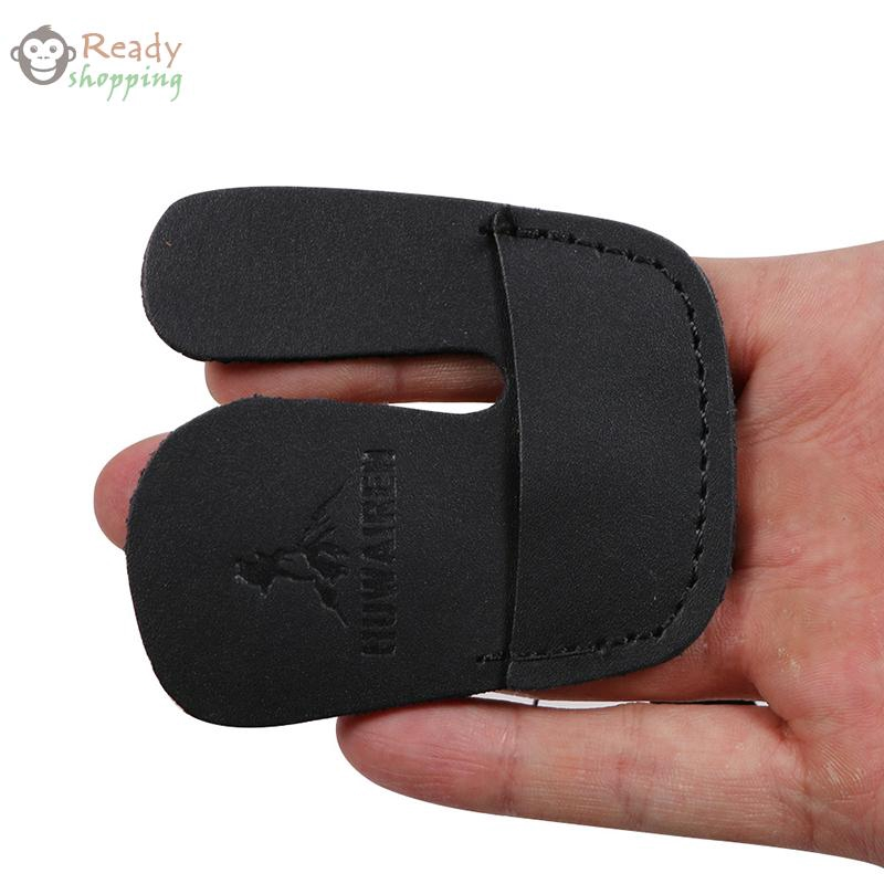 Cow Leather Thumb Glove 6.5x3.5cm 1 Pc Archery Finger Tab Guard High quality