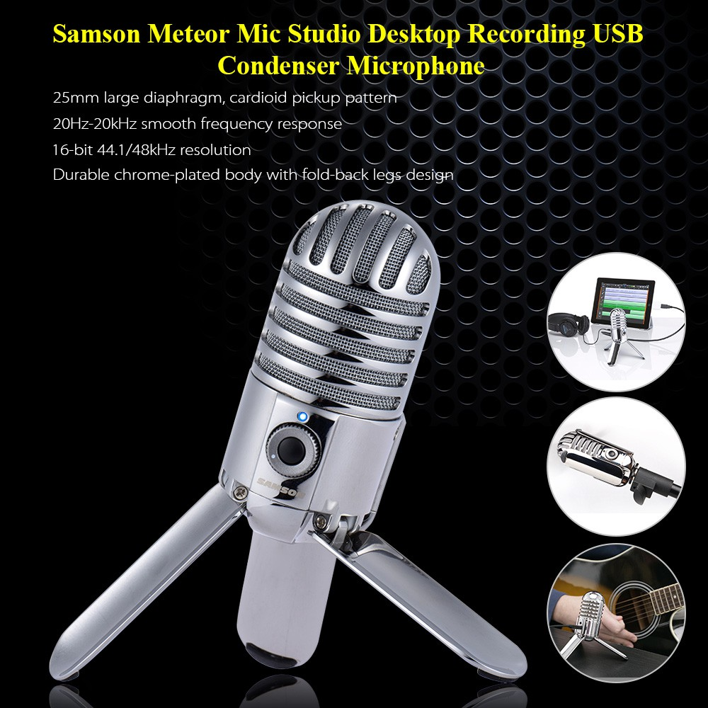 Samson GO Mic Recording Condenser Microphone Clip-on Design with Carrying Case | Shopee Malaysia
