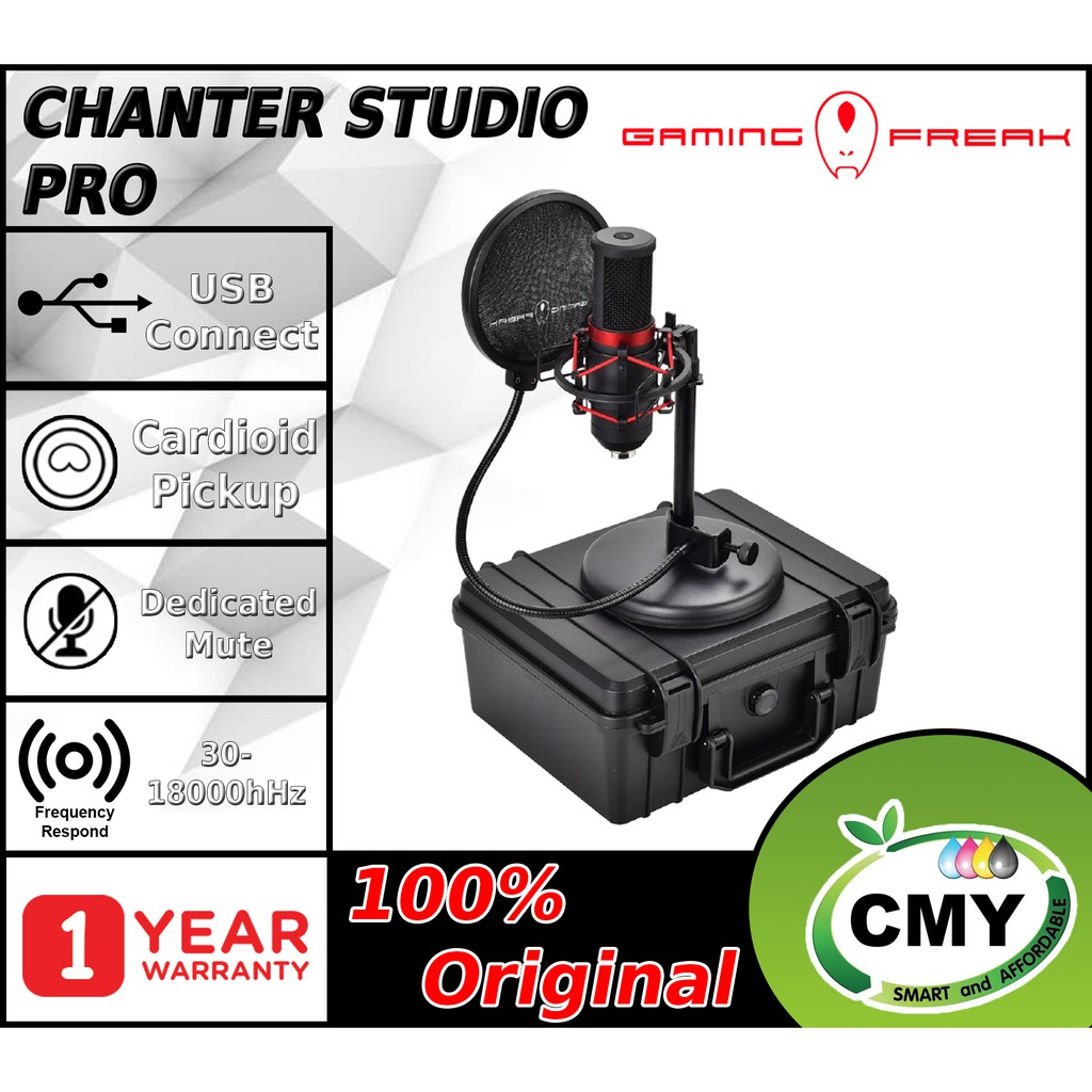 Gaming Freak Chanter Studio PRO GF-CHTSTD-PRO Microphone for Streaming Gaming PodCasting Recording & Singing