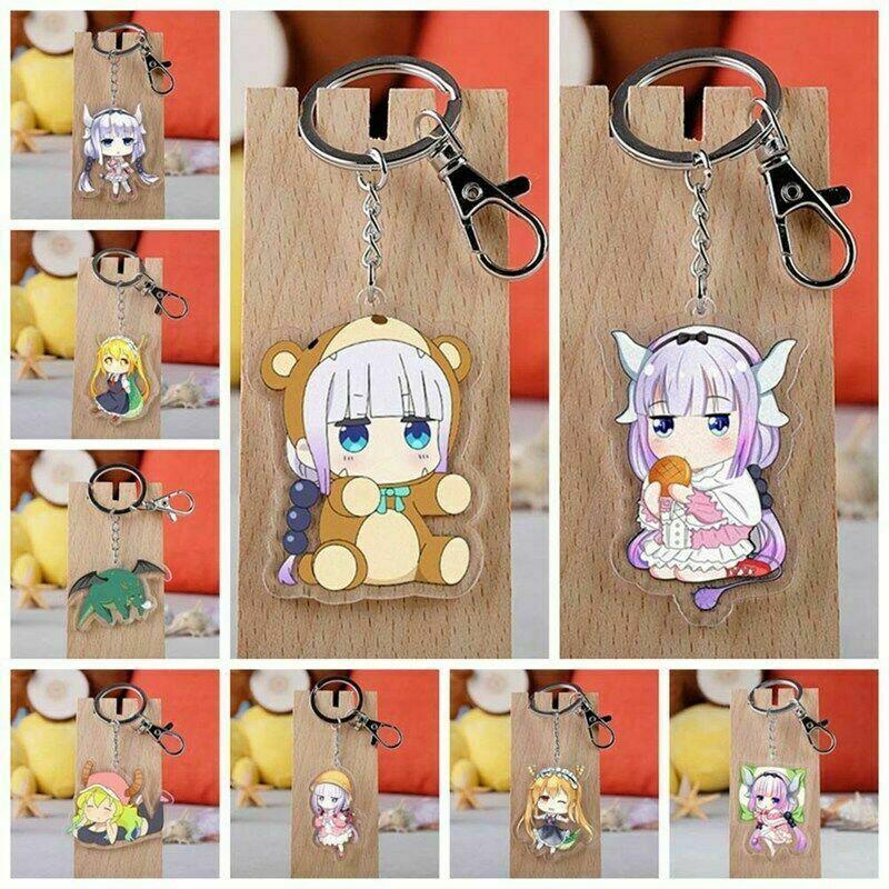 New Anime Miss Kobayashi's Dragon Maid Kanna Keychain Keyring Fashion yuy