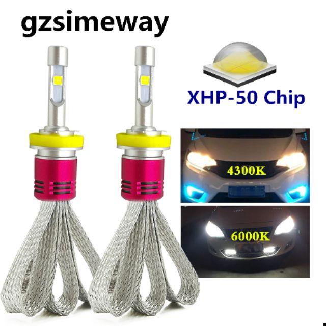 2pcs H7 Led H1 H4 H11 Car Headlight Xhp50 Chip 96w 4300k 6000k H3 880 Fog Lamps Shopee Malaysia