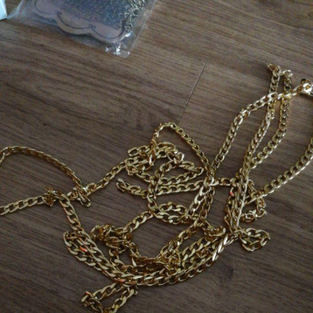 1 Box 2m Gold Color Aluminum Twisted Chains Curb Chains Oval Jewelry Necklaces