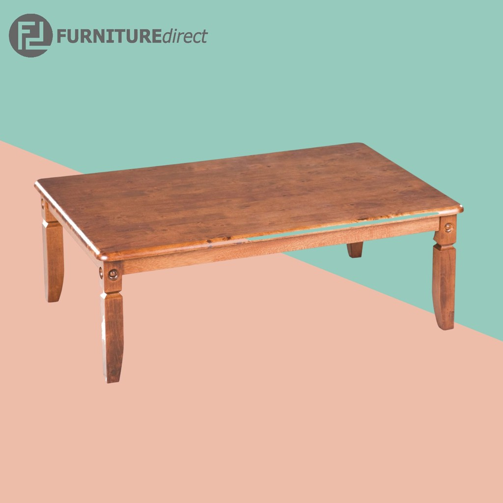 Kline 4 feet full solid wood Coffee Table/ meja kopi