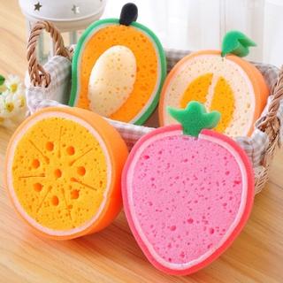 Creative fruit sponge brush tableware glass wash clean