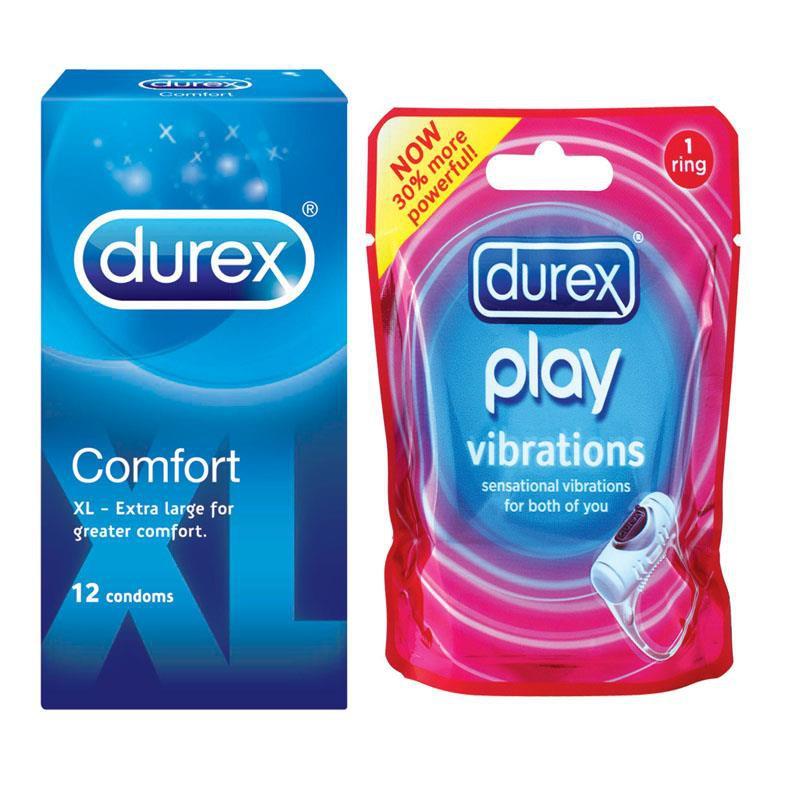 Durex Comfort XL 12s + Durex Play Ring