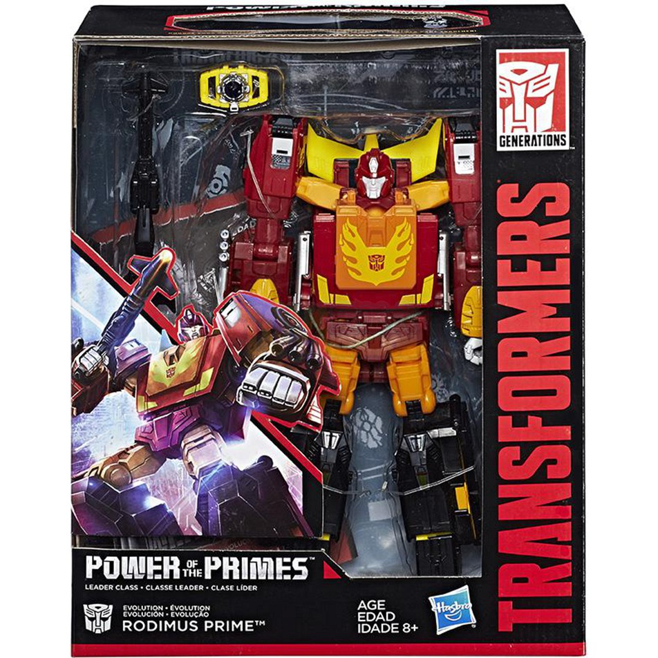 TRANSFORMERS POWER OF THE PRIMES LEADER CLASS RODIMUS PRIME ACTION FIGURE MISB